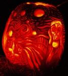 Scream Carved Pumpkin