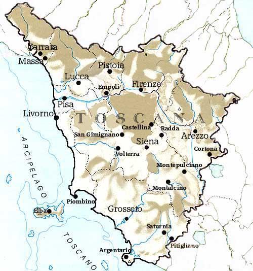 Tuscany - Map Of Tuscany Italy