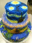 Starry Night Inspired Cake