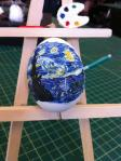 Starry Night Egg Drawing